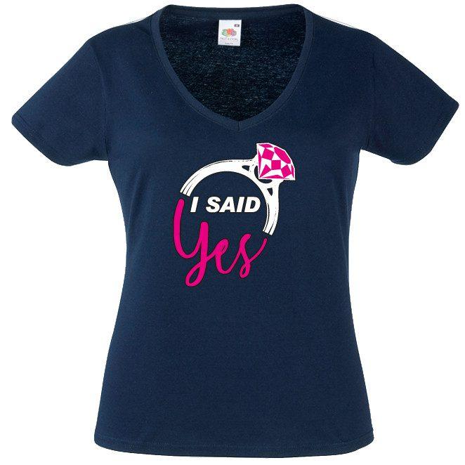 JGA Shirt I said yes Braut