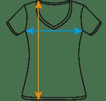 JGA Shirts Frauen Größentabelle