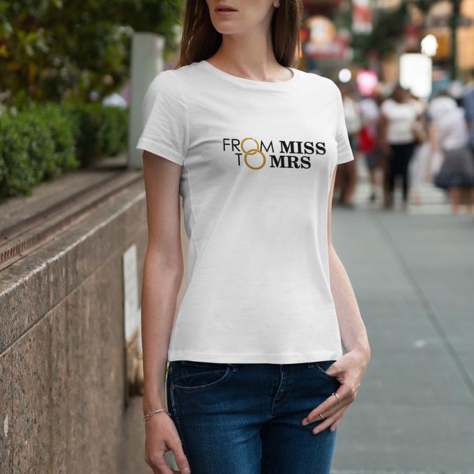 JGA Shirt - From Miss to Mrs.