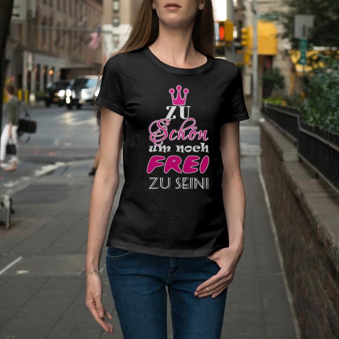 JGA Shirts JGA Shirt - Zu schön um noch frei zu sein