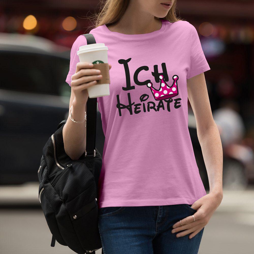 JGA Shirt - Ich Heirate - Wir Feiern