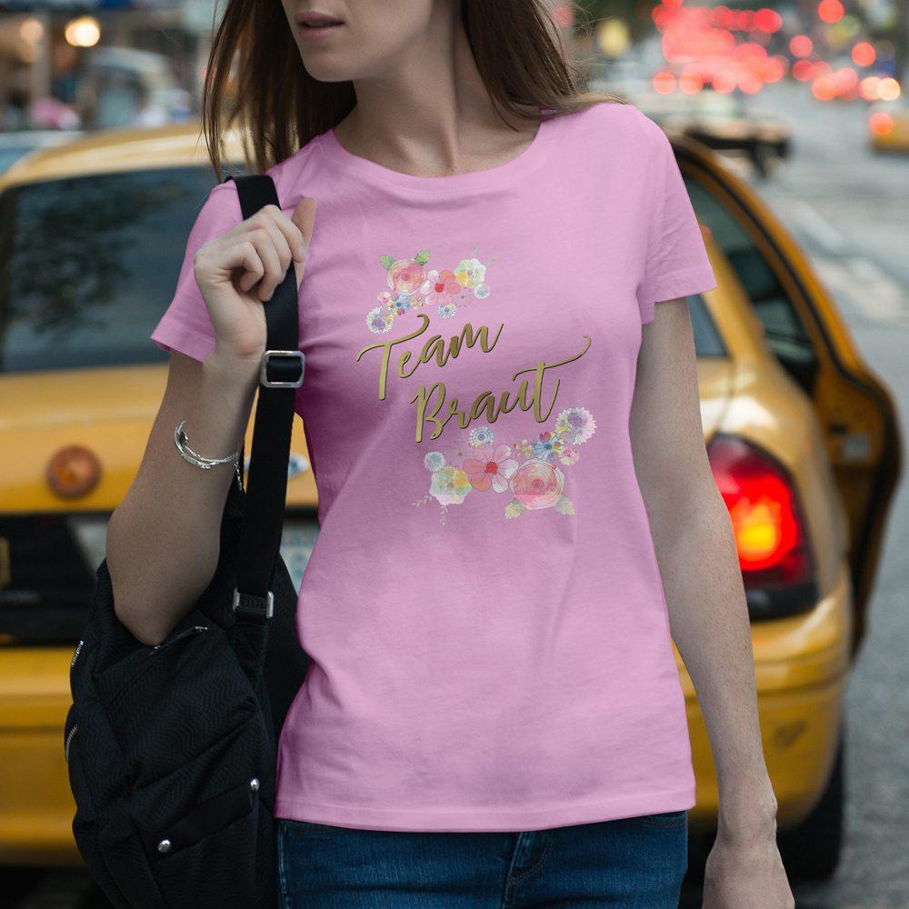 JGA Shirt - Braut Blumen