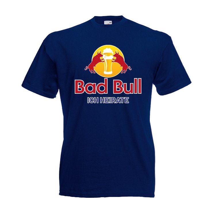 Junggesellenabschied Shirt Bad bull