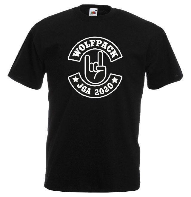 Junggesellenabschied Shirt 2020 Wolfpack