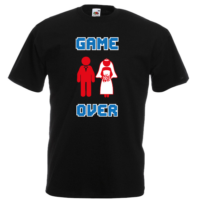 JGA Shirts JGA Shirt - Game Over Brautpaar