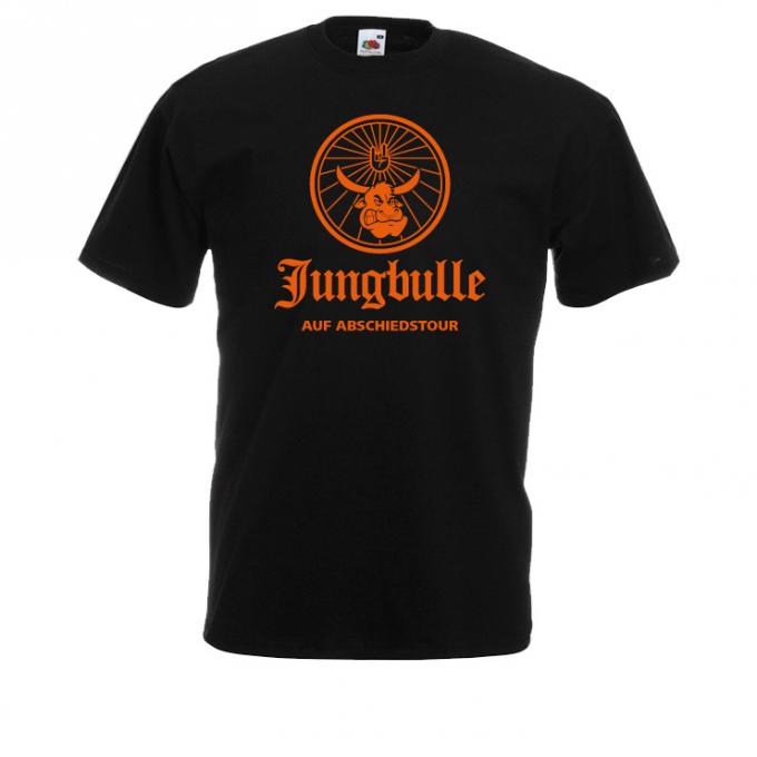 JGA Shirt Jungbulle schwarz ornage