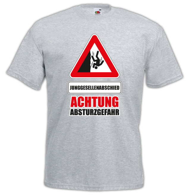 JGA Shirts JGA Shirt - Absturzgefahr