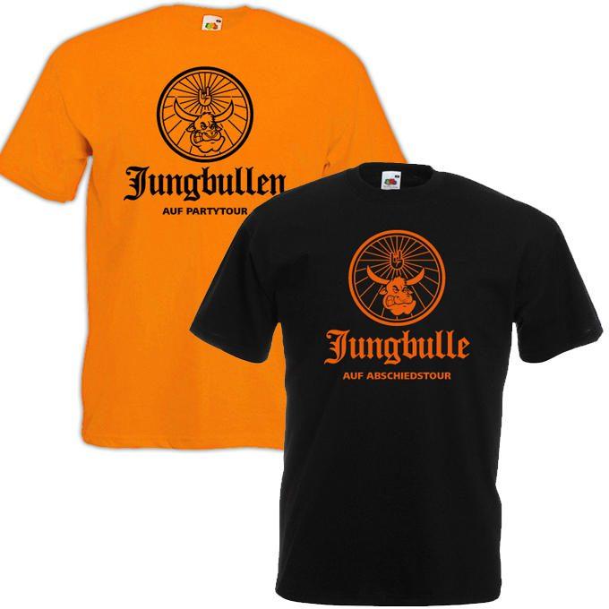 JGA Shirts Jungbulle gelb schwarz