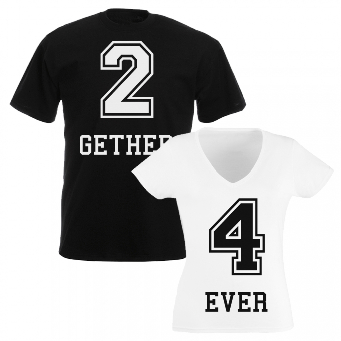 JGA Shirts 2 GETHER – 4 EVER (2er-SET)