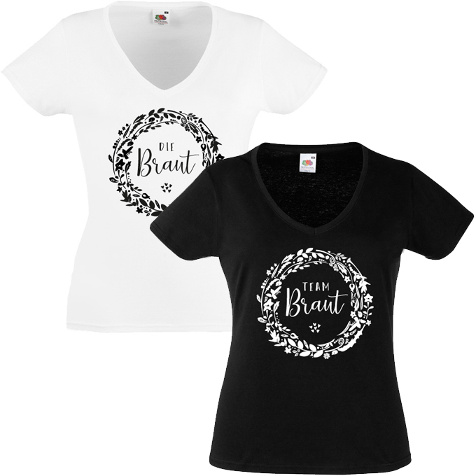 Junggesellinnenabschied shirts Flowers 2