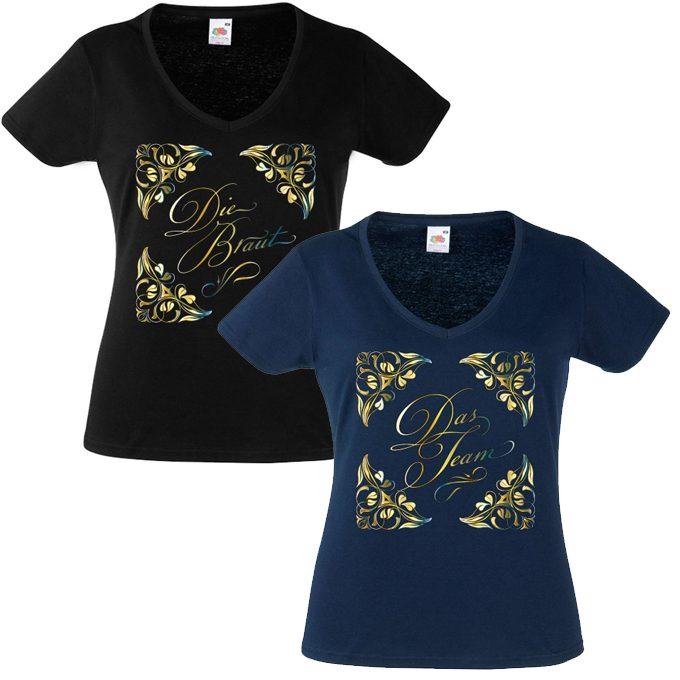Junggesellinnenabschied shirts flowers