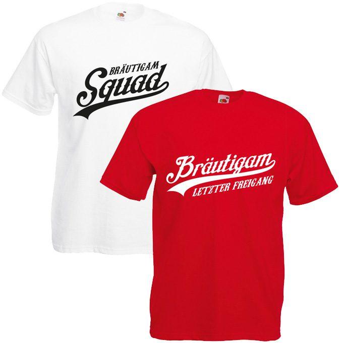 Squad Bräutigam JGA Shirts