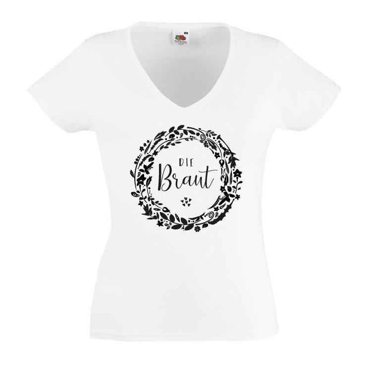 JGA shirt Flowers Braut