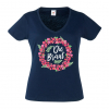JGA shirt Flowers Braut navy