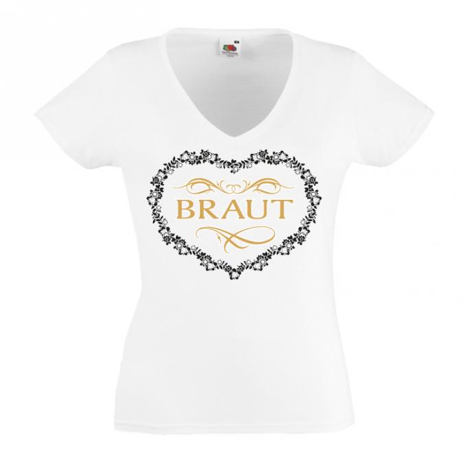 JGA shirt Braut Spitze