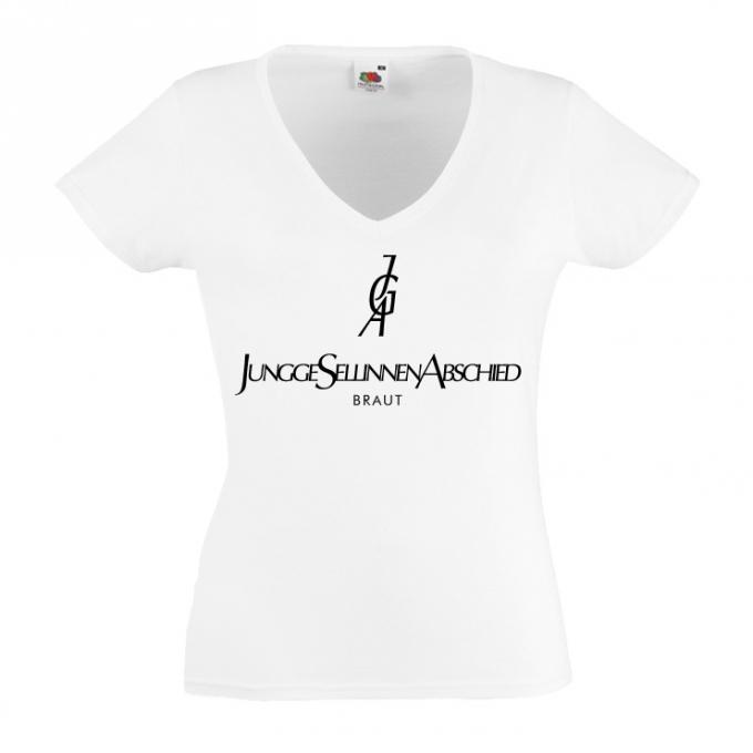 Junggesellinnenabschied shirts Initialen weiß
