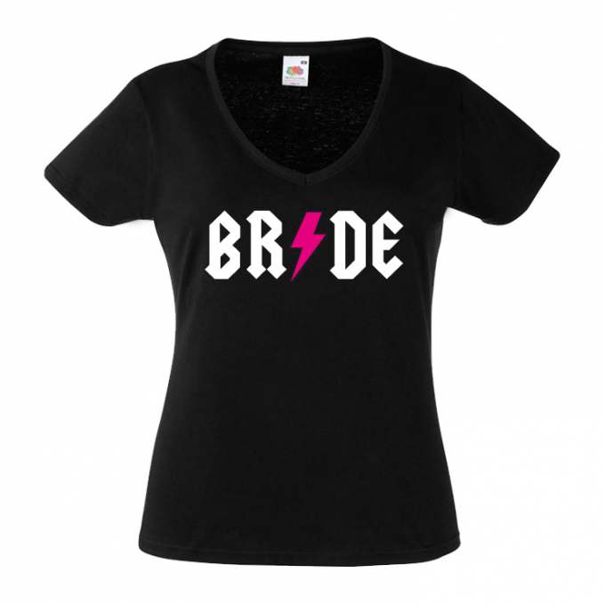 Junggesellinnenabschied shirts Blitz schwarz