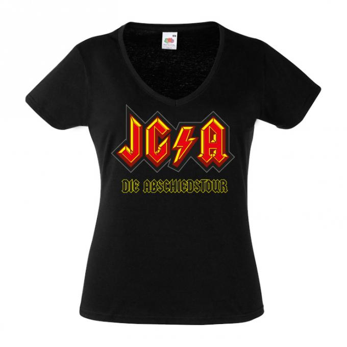 Junggesellinnenabschied shirts Blitz schwarz 2