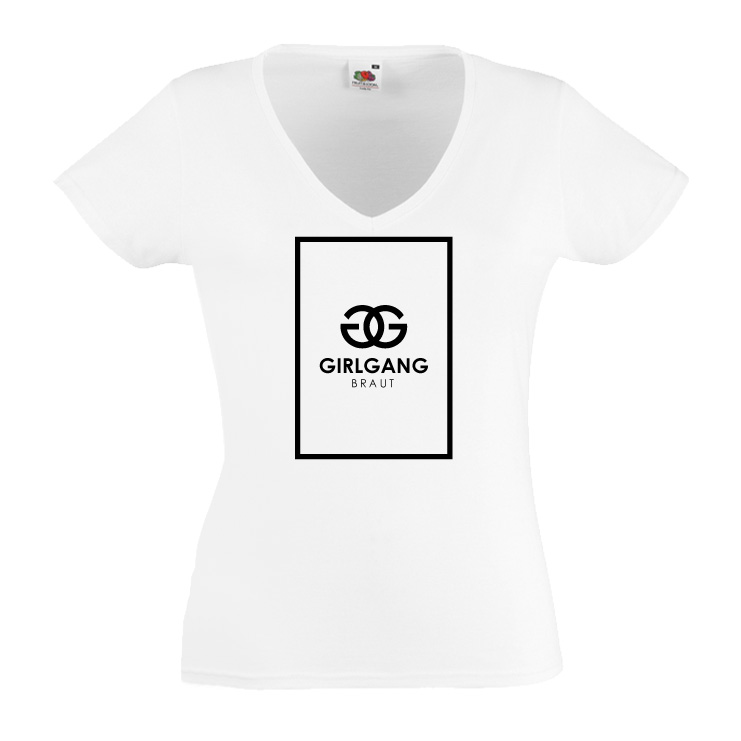 Junggesellinnenabschied shirts Girlgang GG weiß