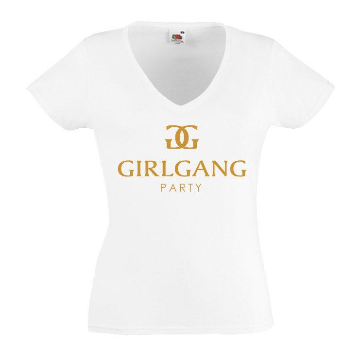 Junggesellinnenabschied shirt Girlgang weiß