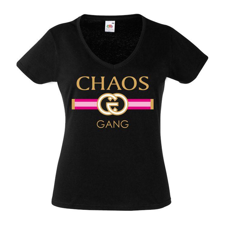 Junggesellinnenabschied shirt GG Chaos schwarz