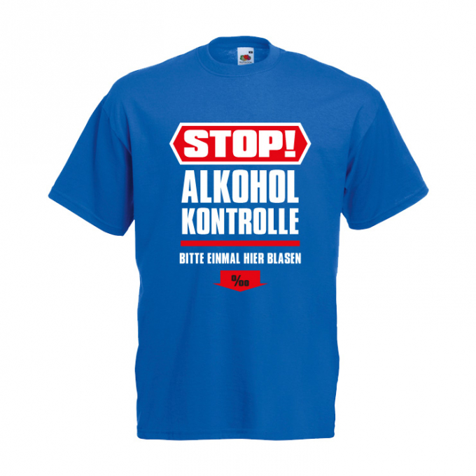 Junggesellenabschied Shirt Alkoholkontrolle