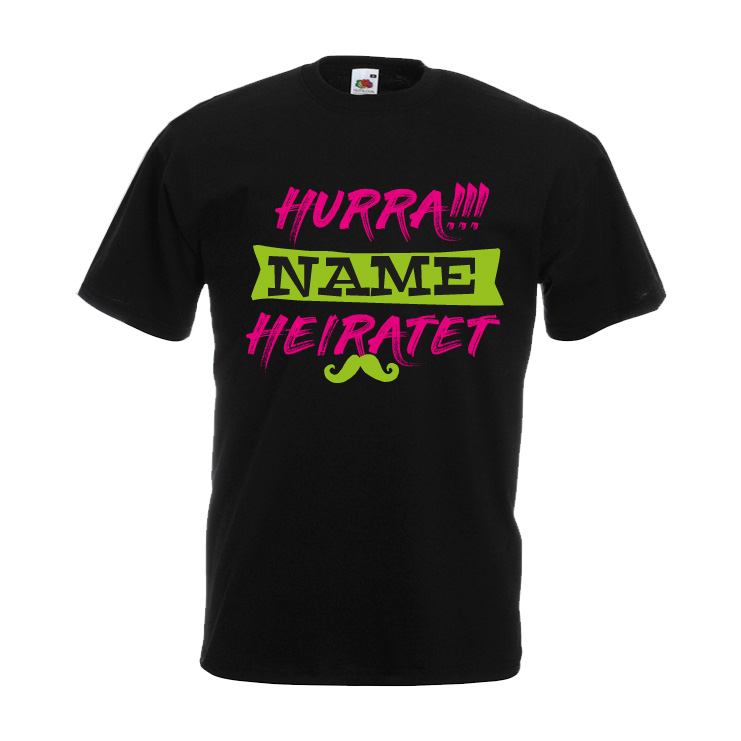 JGA Shirt Hurra Name Heiratet