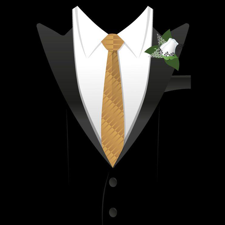 JGA Shirt - Tuxedo Smoking Anzug