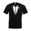 JGA Shirt goldene Krawatte