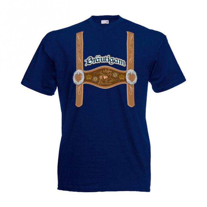 JGA Shirt Lederhose Bräutigam