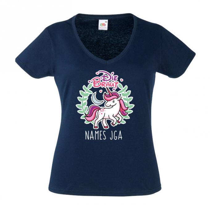JGA Shirts JGA Shirt - Braut / Team Einhorn